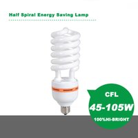 Wholesale HIGH QUALITY HIGH BRIGHNESS Half Spiral Energy Saving Lamp Energy Saving Bulb Fluorescent Light W W W W E27B22 V