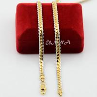 Gros-2 Couleur 5MM New Man femmes 18K Blanc Jaune / Rose Gold Filled Collier chevrons plaqué or chaîne bijoux en or