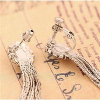 Wholesale Rhinestone Inlaid Fashion Earring with Tassels Alloy Female Jewelry B1221