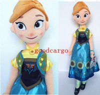 Girls novelty gifts and toys - Frozen Elsa and Anna Doll Cartoon Frozen Fever Plush Toy Princess Dolls Children Girls Gift New Arrival