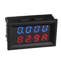 Wholesale New V A D C Car Auto Digital Voltmeter Ammeter LED Amp Volt Meter V w Shunt order lt no tracking
