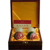 Wholesale Iron ball ball Afghanistan jade peony two suits gift to my parents health