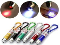 Wholesale car Fedex DHL in kit Laser UV money detector LED Lighting Mini Keychain Flashlight Laser Pointer