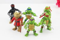 Wholesale TMNT Teenage Mutant Ninja Turtles PVC TMNT Teenage Mutant Ninja Turtles action Figures PVC toys Plastic dolls birthday Christmas gift arming