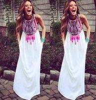boho dress - 2015 new fashion Sexy Women Summer Boho Long Maxi Evening Party Dress Beach Dresses floral Chiffon Dress