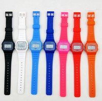 Wholesale Top quality color luminous led backlight watches electronic F W watch chronograph sports watch Silicone Ultra thin LED alarm watches