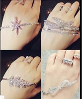 Wholesale 15 off hot sale silver open hand cuff palm bracelet finger women wedding jewelry accessories drop shipping