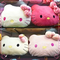 Wholesale 44cm cm HelloKitty Cushion Soft Stuffed Animals Plush Chair Pillow Bed Sofa Decoration Kitty Soft Winner Cushion