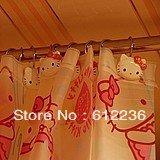 Cheap Hello Kitty PEVA Hello Kitty Shower Curtain with Hooks home supplies Bathroom things household items dropship Wholesale
