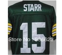 bart logo - Factory Outlet Bart Starr Men s Throwback Football Jersey Embroidery and Sewing Logos Size M XL Accept Mix Order