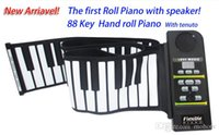Wholesale Newest Keys Portable Hand Roll Piano with Tenuto built in Speaker MIDI Mini Soft Real feeling and free drop shipping