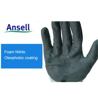 nitrile coated gloves - Anti skidding Gloves Ansell Hyflex foam Slip resistant Labour Protection Safty Gloves Oil Resistant oil proof Nitrile Foam Coating DHL Free