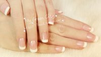 acrylic office accessories - French style office false nail art tips fake nails art decoration patch manicure tips accessory