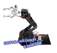 arduino dof - set Alloy DOF Robot Arm Clamp Claw Swivel Stand Mount Kit Robotic Parts For Arduino Brand New Dropship Free