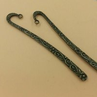 Wholesale Metal Bookmark Vintage Bookmarks With Loop Bronze Flower For Jewelry Making T193 New