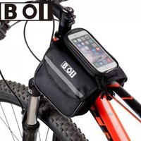 Wholesale New in bicycle cycling saddle bag and touch screen phone case bike front tube bag