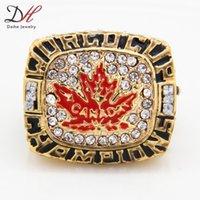 Cheap Defective 2014 fashion sport Jewelry Canada Hockey team 2004 world Hockey world cup Gold championship rings Men's Jewelry 1 Pcs