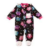 Wholesale New Born Baby clothes baby boy girl footed rompers animal baby romper long sleeve cotton sleep amp play clothes baby pajamas