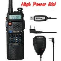 Wholesale 8W Radio W W W UV HX walkie talkie Baofeng UV HX radio speaker cable