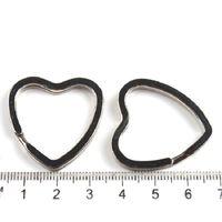 art dog tags - Key Ring findings Key Chain art Key fob hook double Split jump ring heart round shape Bag Charm dangle jewelry Making Gift composant
