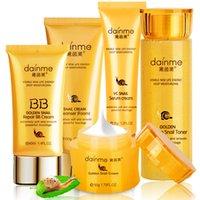 Wholesale DAINMEI K Gold Snail Skin Care Set Essence Cream Eye Cream BB Creams Toner Facial Cleanser Face care Set