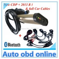 Wholesale 2013 Lastest TCS CDP PRO With bluetooth For multi Cars And Trucks with Multi Language for plus set car cables