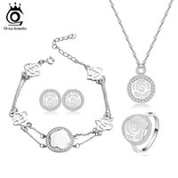 big love images - ORSA Newest Design Big Brand Women Jewelry Set Love Flower Image Jewelry Sets for Bridal OS57