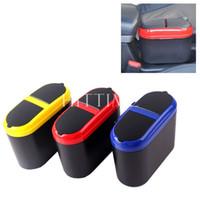 Wholesale New Convenient Mini Car Auto Dustbin Box Trash Rubbish Can Garbage Dust Case Holder Bin Hook