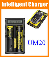 Wholesale Nitecore UM20 Intellicharger LCD Display E Cigarette Battery Charger for Battery pk Nitecore I4 D2 D4 UM10 FJ113