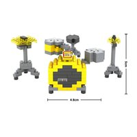 bass drum set - LOZ Diamond Blocks Bass drums Toy Building Blocks Sets Educational DIY Bricks Model best christmas gift for children