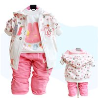 Wholesale Baby clothes Children piece set Casual Outfits Baby girls Sport suits Shivering Kids suit Toddler Costumes Tracksuit