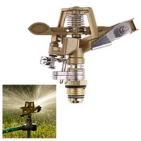 Wholesale D1U Inch Connector Copper Rotate Rocker Arm Water Farm Rotating Sprinkler Spray Nozzle New Arrival Promotion