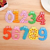 Wholesale 1set X mas Gifts Set Number Wooden Fridge Magnet Education Learn Cute Kid Baby Toy favors