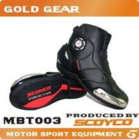 Wholesale 2016 Scoyco MTB003 waterproof leather motorcycle racing motocross boots professional motorcross motorbike botas moto speedcross