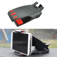 Wholesale 15x5 x5cm New Car Clip Phone Holder Table Bracket ABS Black Mounts Interior Accessories for Mobiles Latop Table GPS Styling