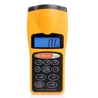 Wholesale High quality Yellow Distance Meter LCD Ultrasonic Measure Distance Meter Laser Range Finders m Measurer Tool F5
