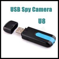 Cheap Newest Video Recorder Super Mini U8 DVR USB Disk Memory HD Spy Camera Motion Detector Black Mini Spy Hidden DV DVR U8 USB Disk Free Shipping