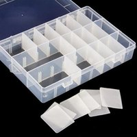 Wholesale Organizer Storage Beads Box Size Compartment Slot Free Installation Demolition Plastic Jewelry Adjustable Case
