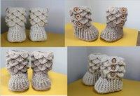 venda por atacado booties crochet-OUTLETS! Botas de algodão fio de criança, sapatos de neve Crochet, malha sapatos de bebê, multicamadas sapatos crochet recém-nascido, escalas walker shoes.9pairs / 18 pcs