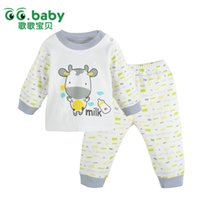 name brand baby clothes - New GG Baby Boy Clothing Set Cotton White Baby Boy Girls Clothes Set Name Brand Newborn Body Suit Long Tops Pants For Bebes