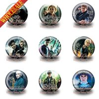 Wholesale New Hot Sale mm Diameter Harry Potter Cartoon Buttons Pins Badges Round Brooch Badges Party Gifts Bags Clothes Decoration