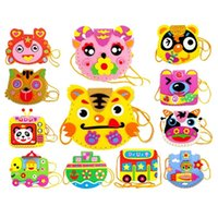 Wholesale EVA DIY Toy Bags Cute Flower Style Bag Handmade Crafts Cartoon Backpacks