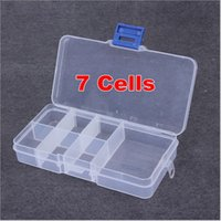 acrylic candy containers - 3pcs Grid Transparent Plastic Box Acrylic Cosmetic Case Nail Art Pill Box Portable Storage Container Stones Tools Y2678