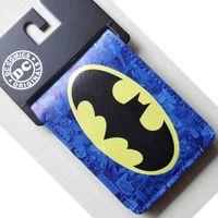 animate purse holder - Animated cartoon Batman wallet New Hot DC Comics Batman Bat Logo wallets Purse Blue cm Leather Man women Cool
