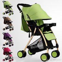 Wholesale High Quality Baby Stroller Child Infant Car Shockproof Trolley Newborn By Folding Strollers Carriage Pushchair Pram JN0003 Bagseller2010