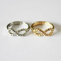 Wholesale 2015 New lovely Punk Girls Shining Retro Connector Knuckle Midi Ring Finger Infinity Rings For Women Men Gold Silver Color FreeShipping R153