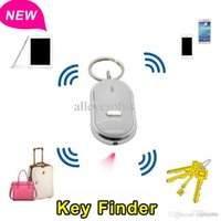 batteries key finder - Keys Chain LED Key Finder Locator Find Lost Keychain Whistle Sound Control With Battery