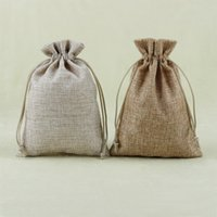 linen bags - High Quality Linen Jewellery Pouch Gift Bag X18cm