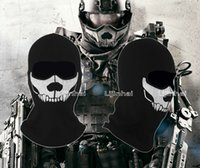 Wholesale 2014 New High Qualit Edge of Tomorrow mask Ghost Ski Full Face Mask Biker Totenkopf Skull Face Motorrad