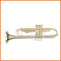 Wholesale Trumpet Bb B Flat Brass Exquisite Made of High quality Brass with Mouthpiece Gloves Top Quality Musical Instruments